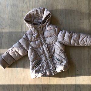 Zara khaki puffer coat 4T